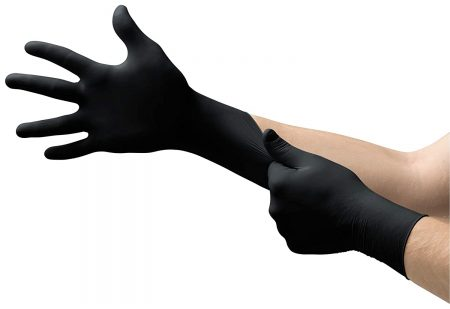 Microflex MK 296 Black Disposable Nitrile Gloves