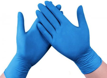 100 Pcs Nitrile Gloves, 4 Mils Disposable Gloves