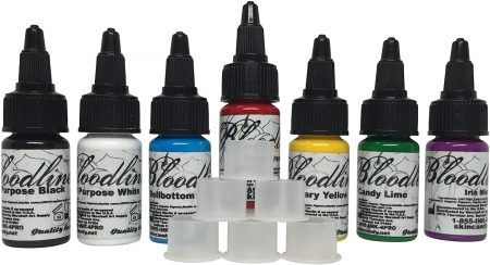 Skin Candy Bloodline Tattoo Ink Set Best 7 Selling Colors