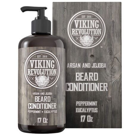 Beard Conditioner WArgan & Jojoba Oils Softens & Strengthens Natural Peppermint And Eucalyptus Scent