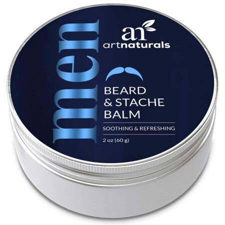 ArtNaturals Mustache And Beard Balm (2 Oz 60g) Natural Hair Wax Oil Leave In Conditioner