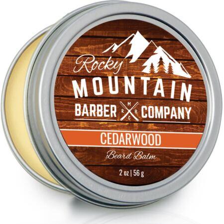 Beard Balm Rocky Mountain Barber 100% Natural Premium Wax Blend With Cedarwood Scent, Nutrient Rich Bees Wax, Jojoba, Tea Tree, Coconut Oil