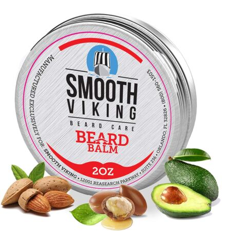 Beard Balm For Men Smooth Viking Beard Balm With Essential Oil & Beeswax (2 Oz)