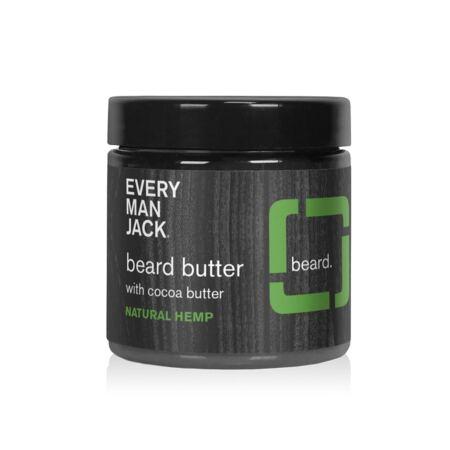 Every Man Jack Beard Butter Natural Hemp 4 Ounce 1 Jar Naturally Derived, Parabens Free, Phthalate Free, Dye Free, And Certified Cruelty Free