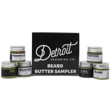 Detroit Grooming Co. Beard Butter Sampler Includes 6 Different Scent All Natural Beard Butters (0.5 Ounces Each)
