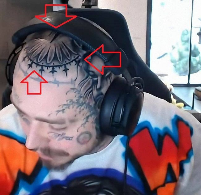 56 Post Malone Head Tattoo 1