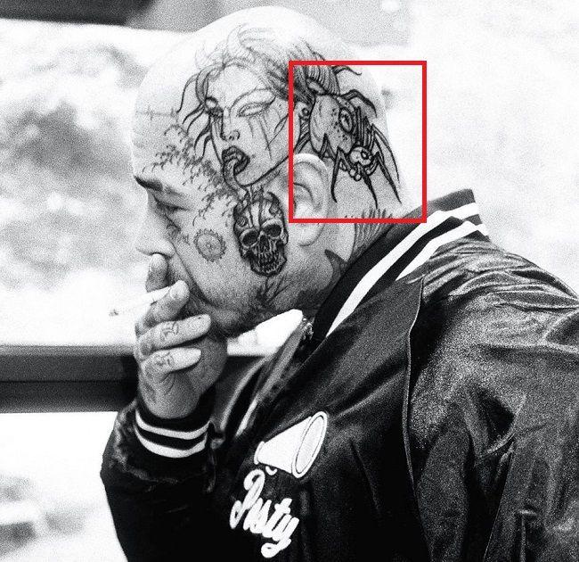 65 Post Malone Tattoo Left Head