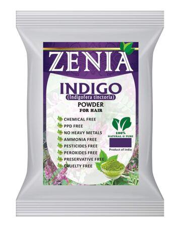Zenia Indigo Powder (Indigofera Tinctoria) Hair, Beard Dye Color 200 Grams