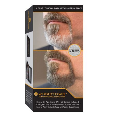 My Perfect Goatee And Beard Temporary Color (All Hair Colors Included) Brush On Applicator