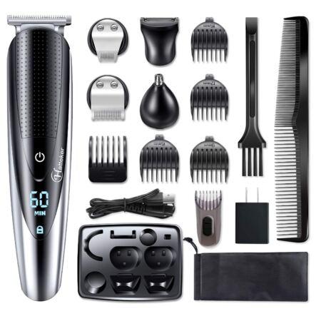 Hatteker Men's Hair Clipper Beard Trimmer Grooming Kit Hair Trimmer