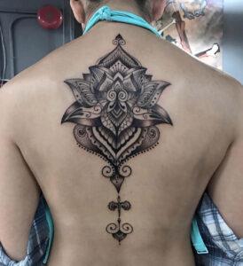 Lotus Mandala Back Tattoo