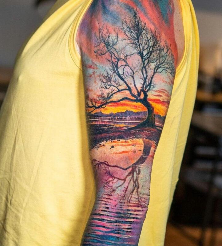 Tree & Lake Nature Scene